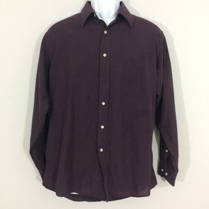 Pierre Cardin Mens 15-15.5 32/33 Button Up READ!!!